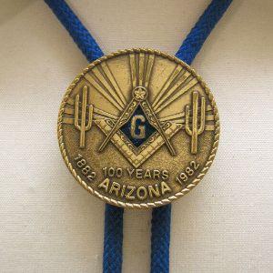 and Arizona Masonic Centennial Bolo Tie