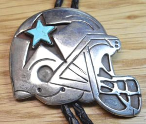 Bolo Tie Dallas Cowboys Sterling Silver by Arturo Rivera